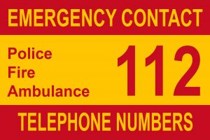 Emergency telephone numbers